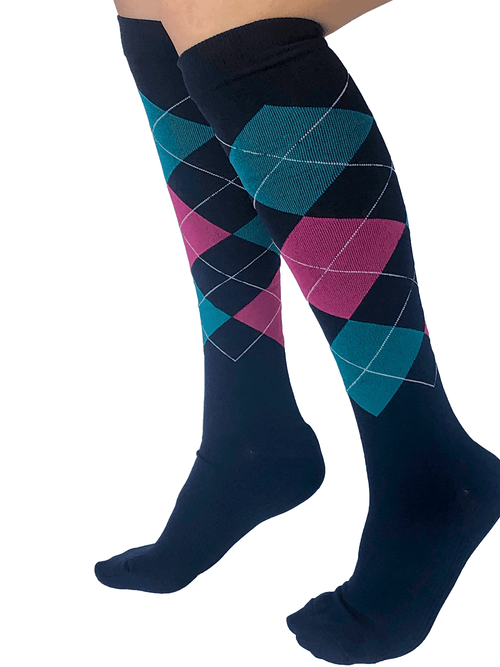 Healthy Sock Shop Compression Socks Compression Socks - Blue & Diamonds