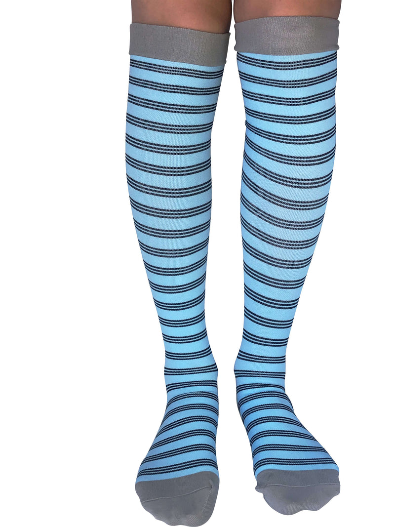 Healthy Sock Shop Compression Socks Compression Socks - Blue & Grey Stripe