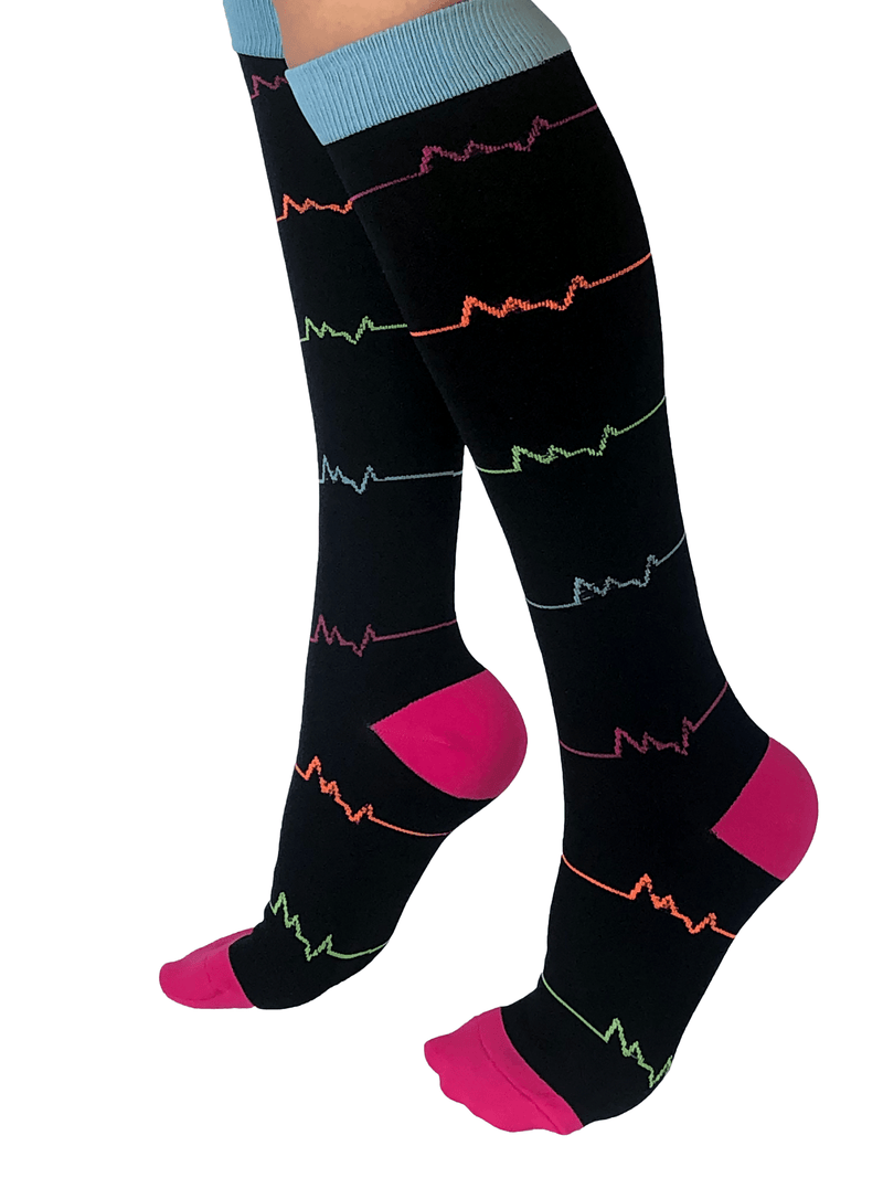 Healthy Sock Shop Compression Socks Compression Socks - Multi Color 4 x Pack