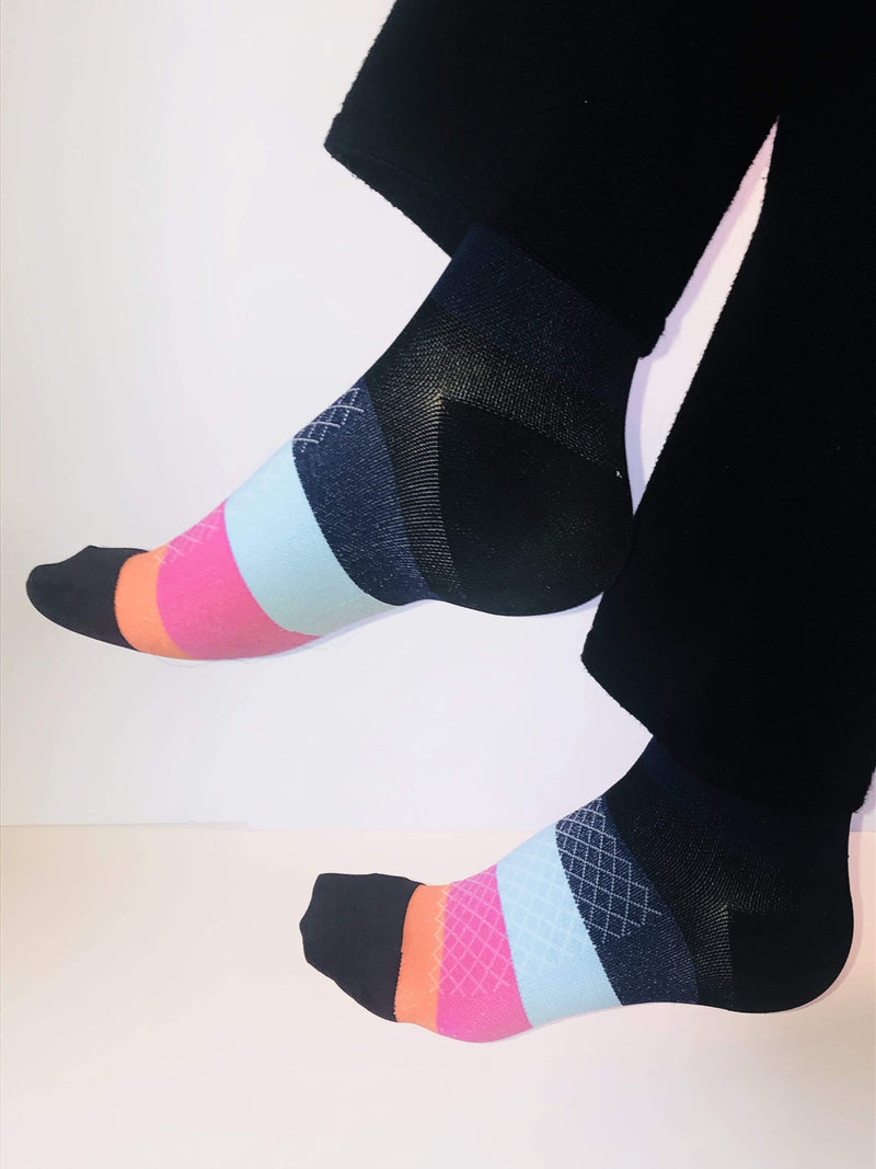 Healthy Sock Shop Compression Socks Compression Socks - Multi Color Stripe