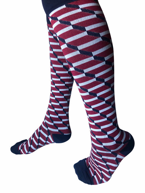 Healthy Sock Shop Compression Socks Compression Socks - Red/White/Blue