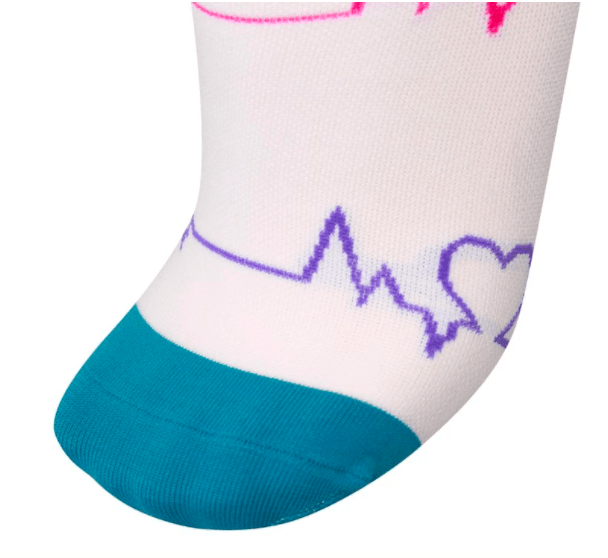 Healthy Sock Shop Compression Socks Compression Socks - White & Heart Beat