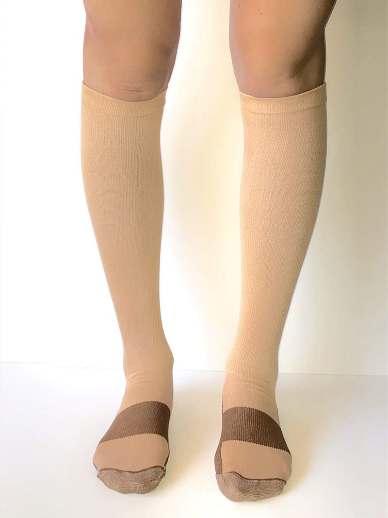 Healthy Sock Shop Compression Socks Copper Infused Compression Socks - Beige