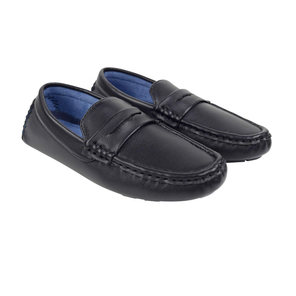 Oslo Leather Loafers - Black