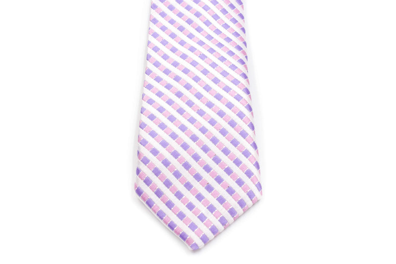Boys Ties - Purple Mutli Checks