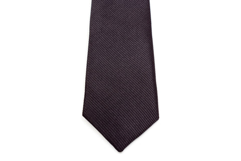 Boys Ties - Matte Black Striped