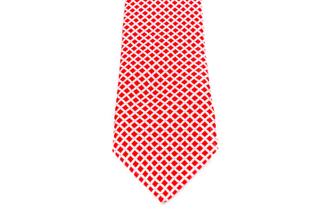 Boys Ties - Red/White Checks