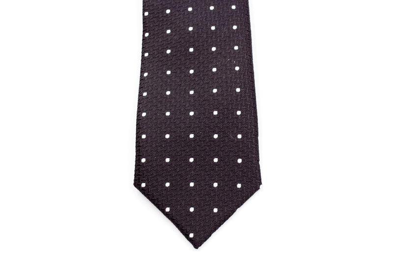 Boys Ties - Black Polka Dot