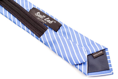 Boys Ties - Sky Blue Stripes