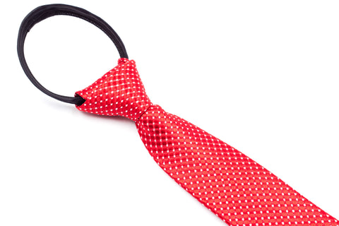 Boys Ties - Red Polka Dot