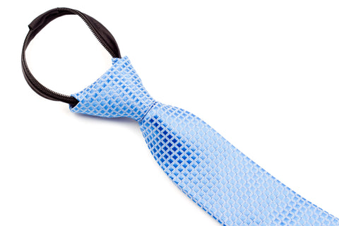 Boys Ties - Baby Blue Checkered