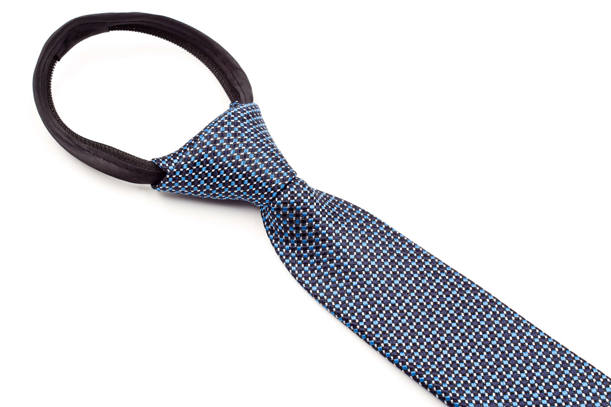 Boys Ties - Black and Blue Checks