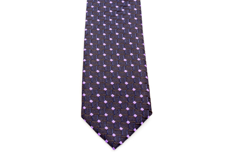 Boys Ties - Black and Purple Diamond