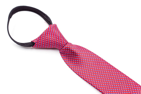 Boys Ties - Red Multi Checks