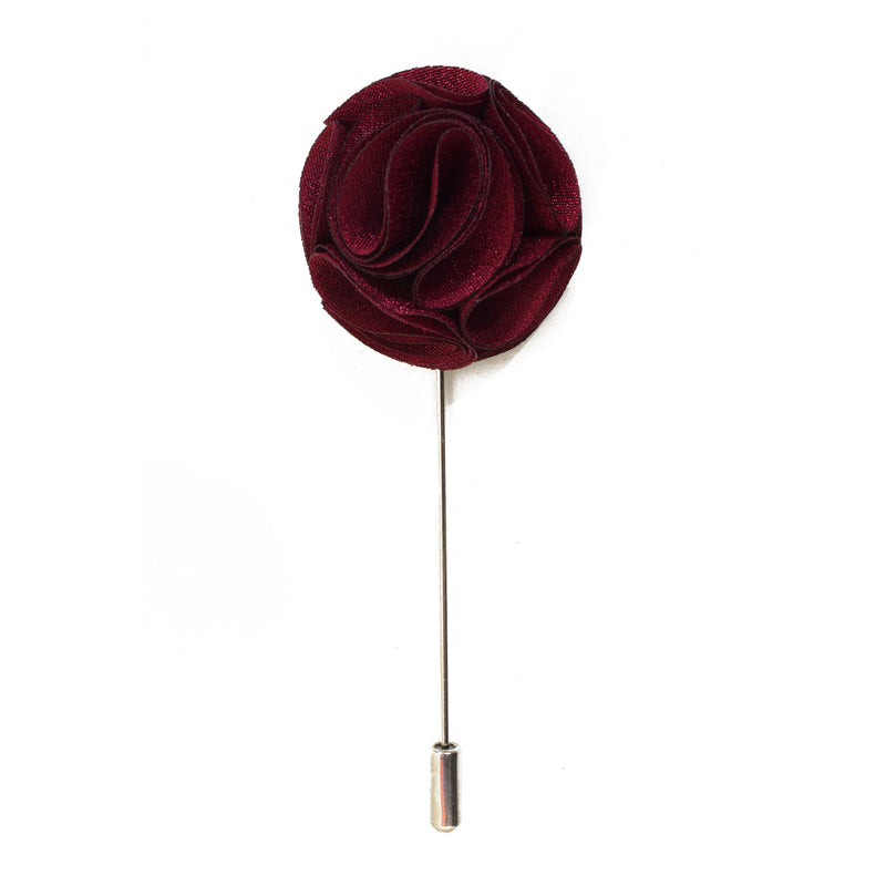 Blossom Lapel Pin - Burgundy