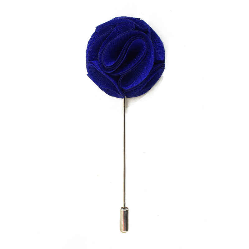 Blossom Lapel Pin - Electric Blue