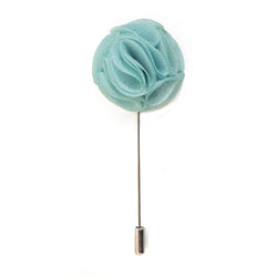 Blossom Lapel Pin - Tiffany Blue