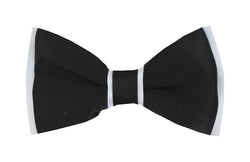 Boys Bow Tie - Black on white