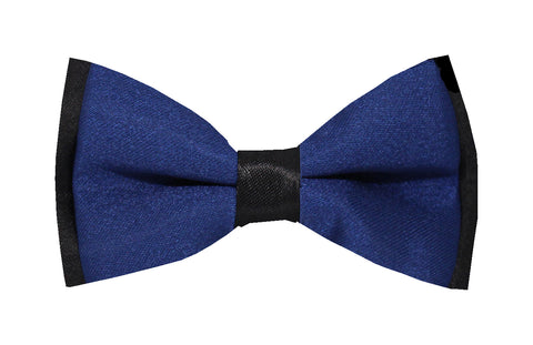 Boys Bow Tie - Navy on Black