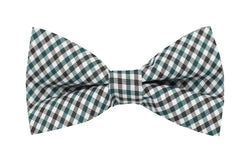 Boys Bow Tie - Emerald Green Checkered