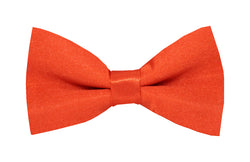Boys Bow Tie - Bright Orange Red