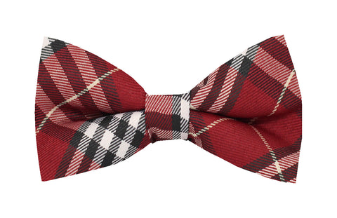 Boys Bow Tie - Red Checks