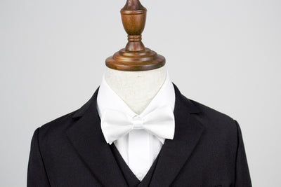 Boys Bow Tie - White