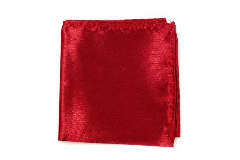 Pocket Square - Burgundy Red