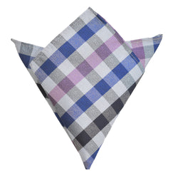 Pocket Square - Pink Multi Checkered