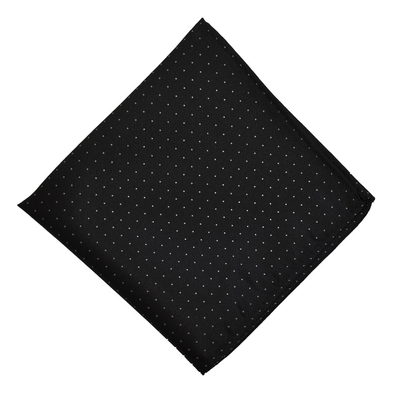 Pocket Square - Black Micro Polkadot