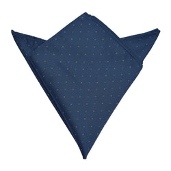 Pocket Square - Navy Blue Micro Polkadot