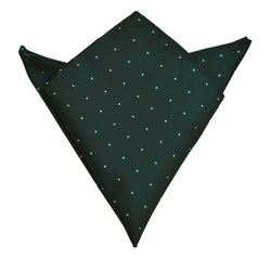 Pocket Square - Emerald Green Micro Polkadot