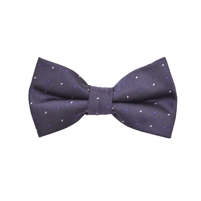 Bow Tie - Purple Micro Polkadot