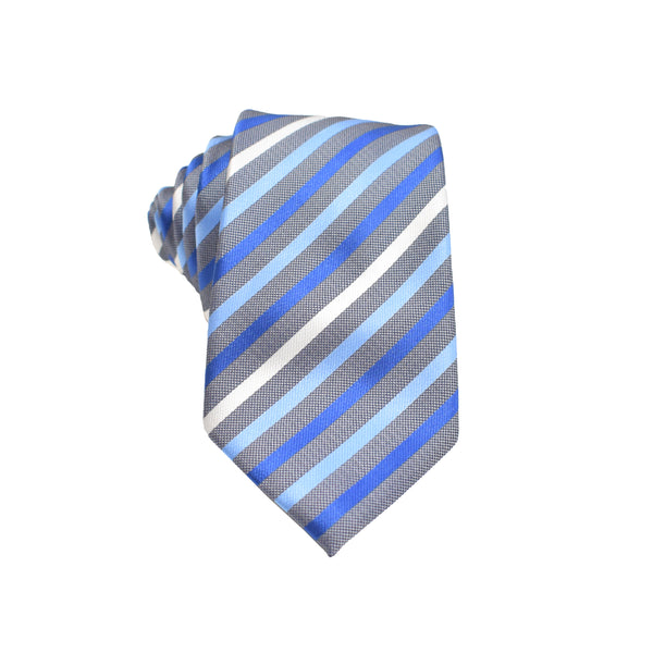 Mens Neck Tie - Blue Multi Stripes
