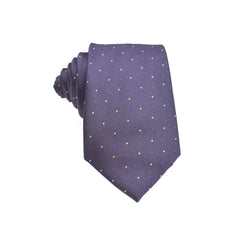 Mens Neck Tie - Purple Micro Polkadot