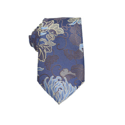 Mens Neck Tie - Egyptian Navy Paisley