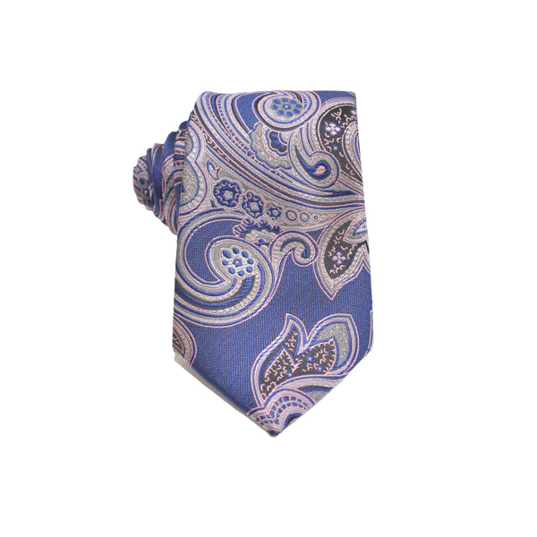 Mens Neck Tie - Dusty Pink Paisley