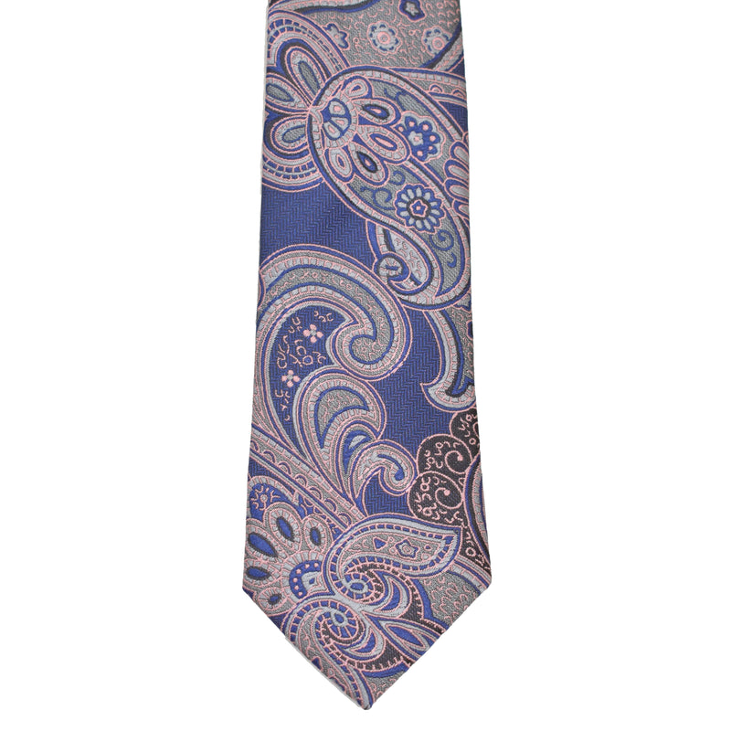 Boys Neck Tie - Dusty Pink Paisley