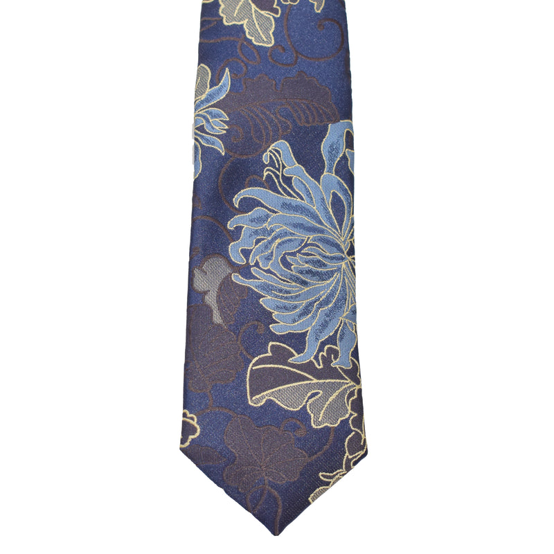 Boys Neck Tie - Egyptian Navy Paisley