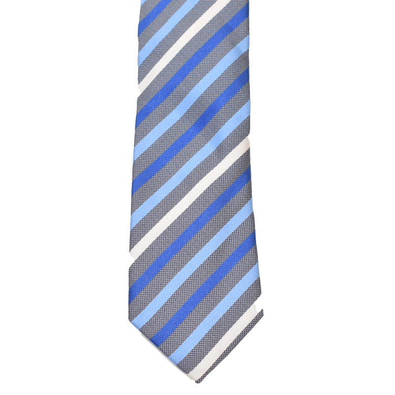 Boys Neck Tie - Blue Multi Stripes