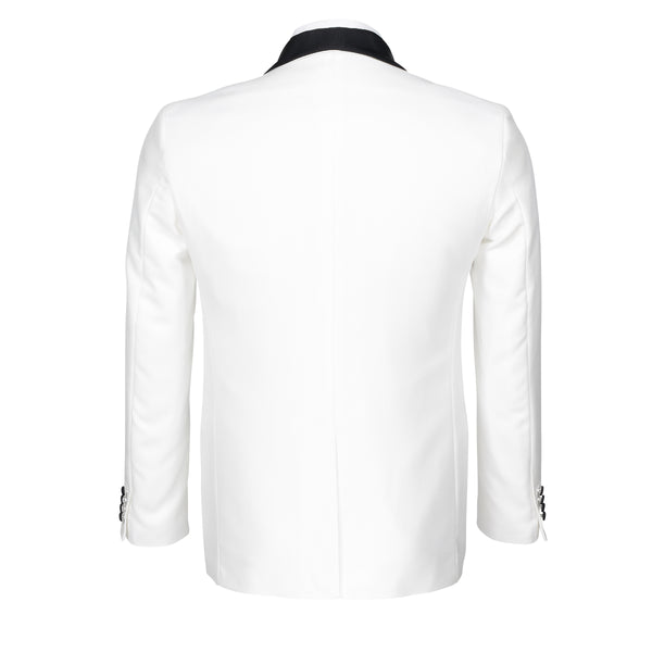 Mens Off White Tuxedo with Black Pants