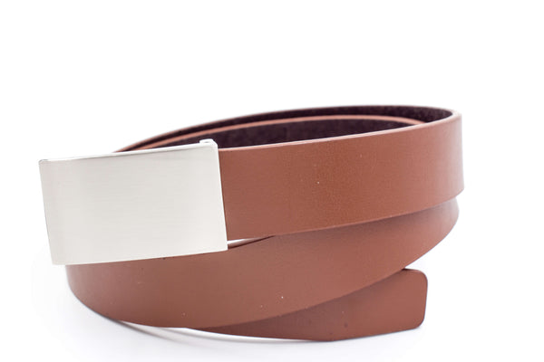 Baby / Boys Leather Belt - Brown Flat