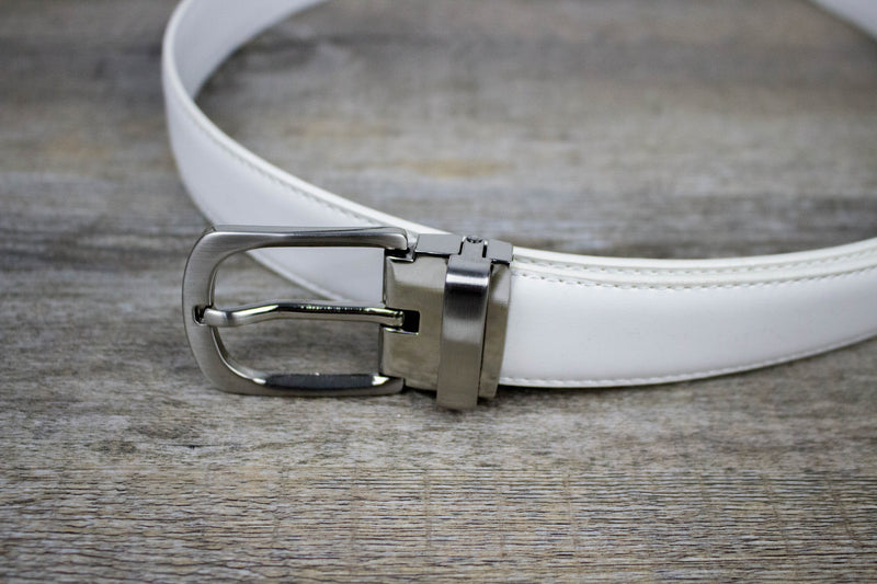 Boys Leather Belt - White Clasp