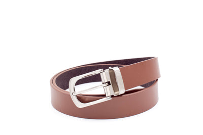 Baby / Boys Leather Belts - Brown Clasp Buckle