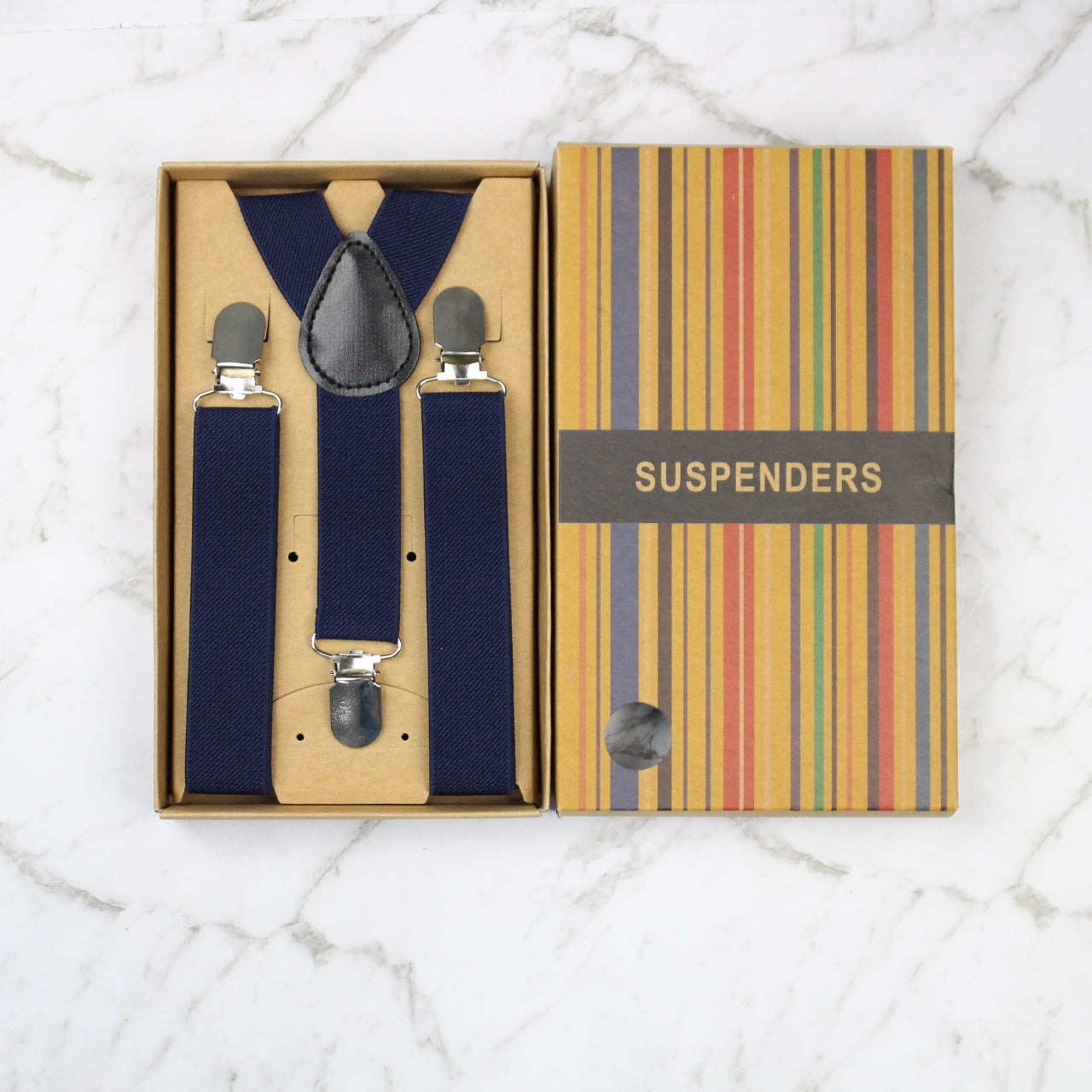 Boys Suspenders/Bracers - Navy