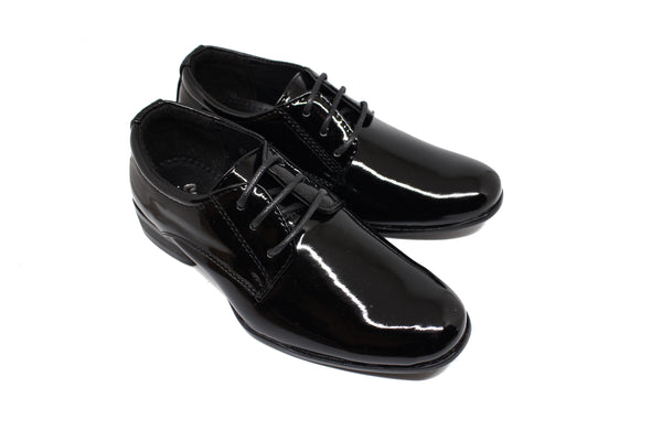 Berlin Derby Shoes - Patent Black
