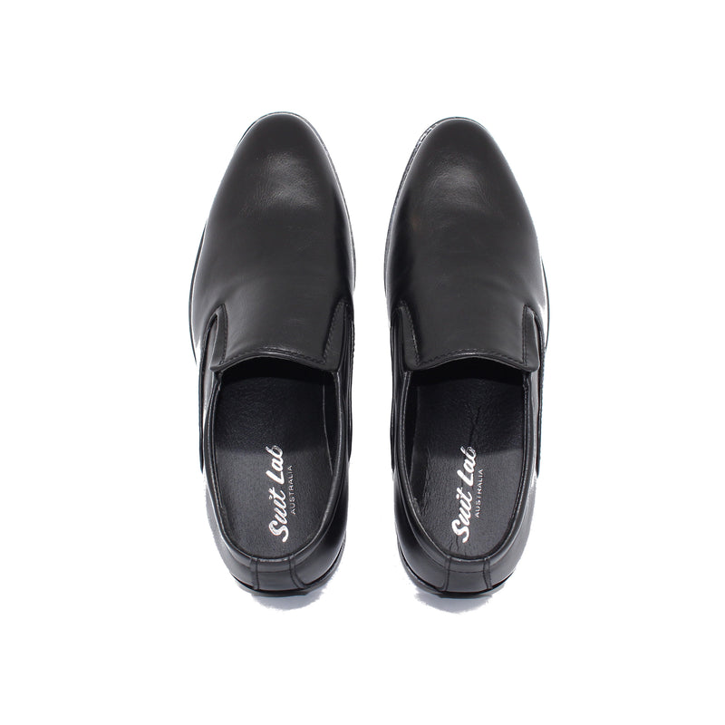 Mens Black Slip On Shoes