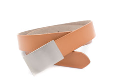 Baby / Boys Tan Flat Belt