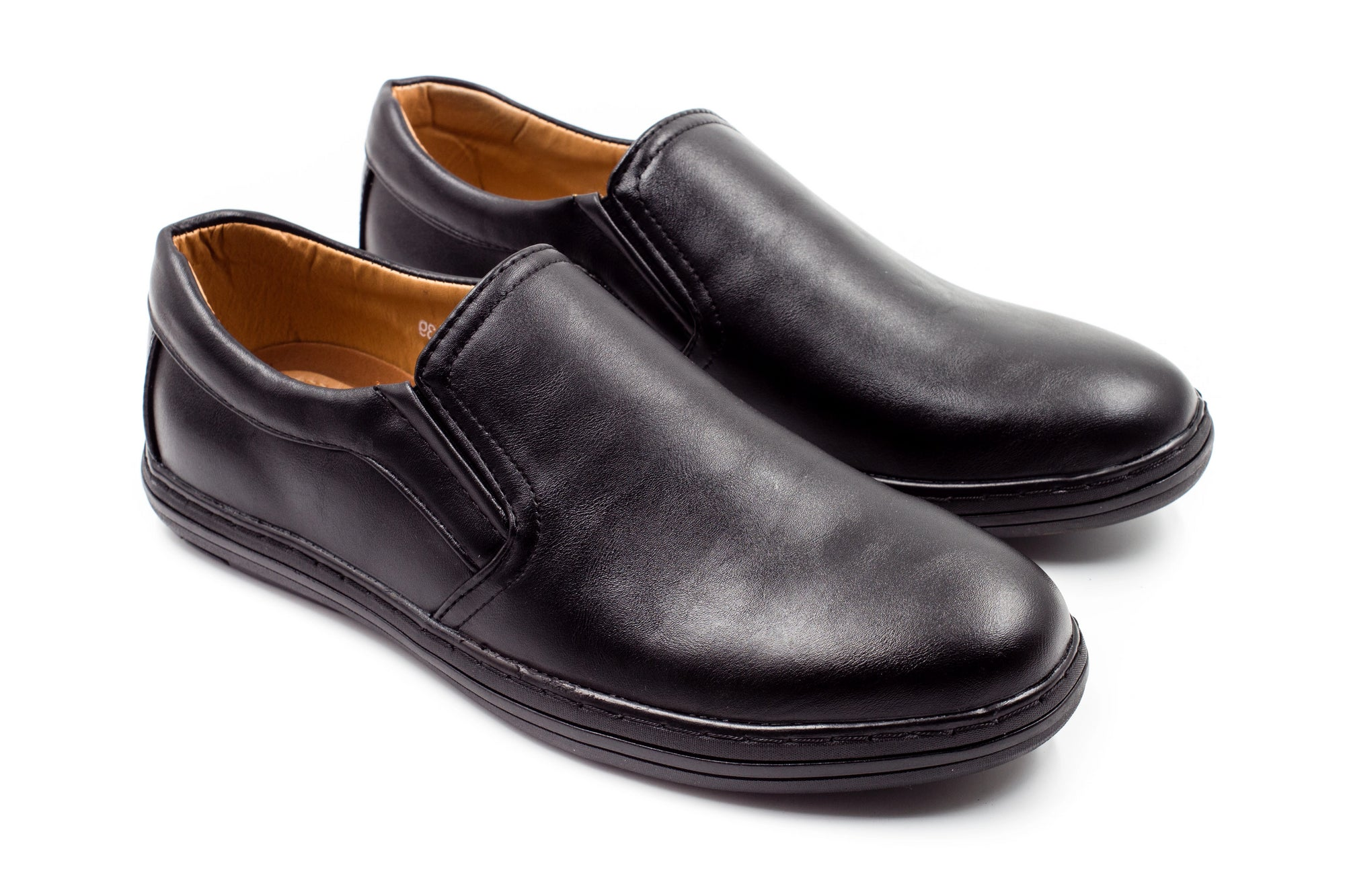 Mens Stansted Matte Black Slip On Shoes