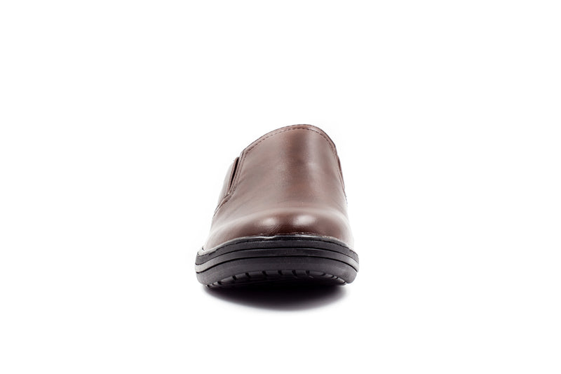 Mens Stansted Brown Slip On Shoes